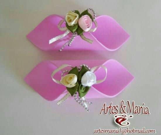 Porta guardanapo de EVA para casamento rosa