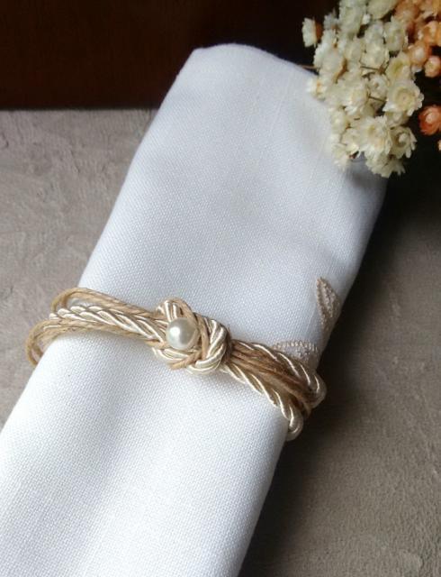 Porta guardanapo para casamento rústico simples