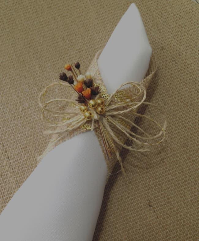 Porta guardanapo para casamento rústico