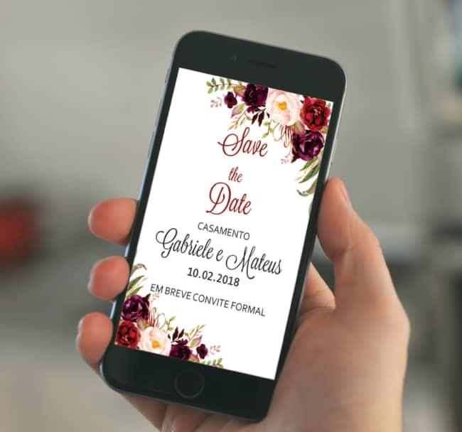 app para convite de casamento