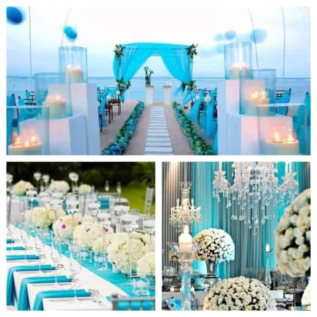 casamento azul decorado