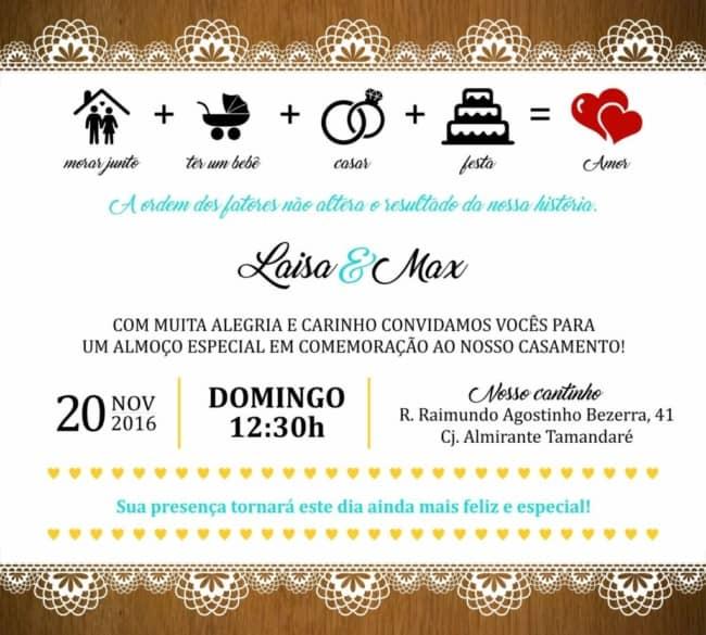 convite de casamento interativo e virtual
