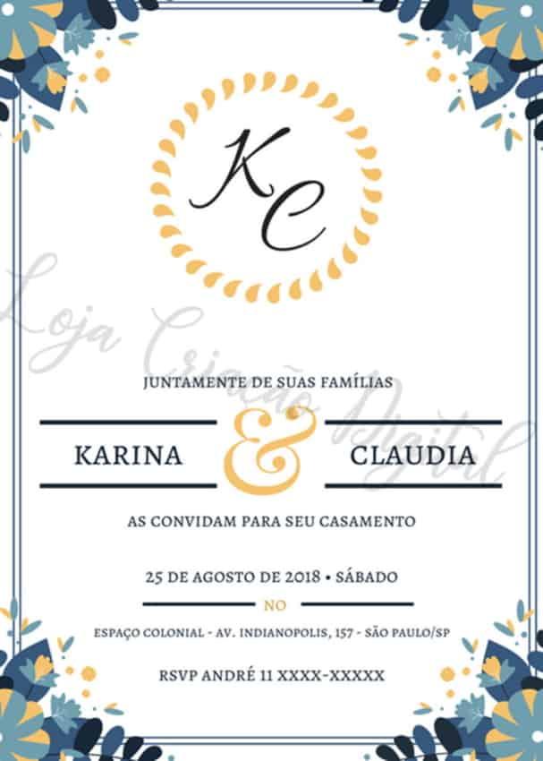 convite virtual para casamento