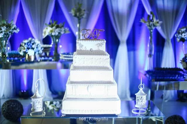 decor de Casamento Azul Royal