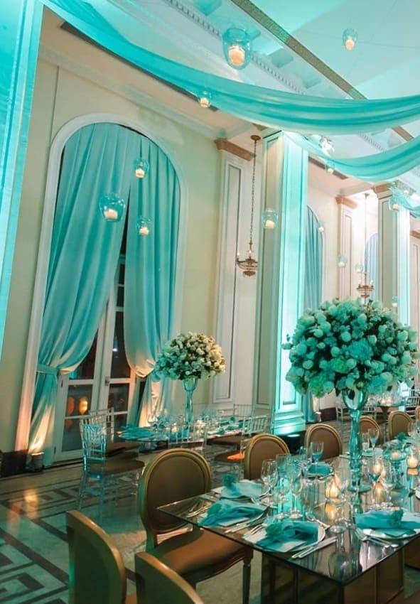 decor de Casamento Azul Tiffany