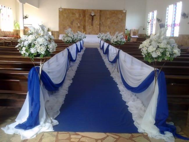 decor de Casamento Azul e Branco
