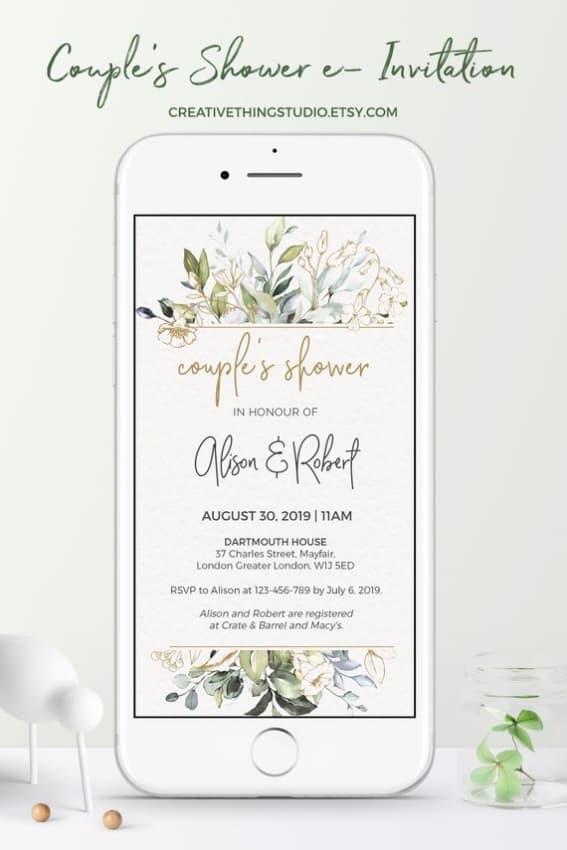 ideia de Convite de casamento online