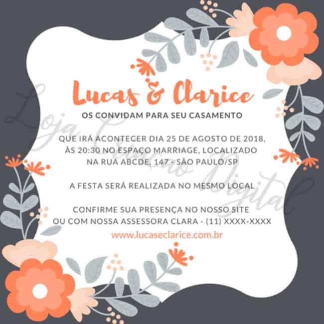 ideia de convite virtual para casamento