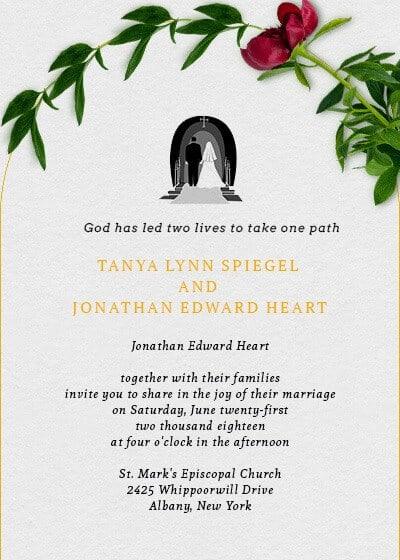 ideias de Convite de casamento online