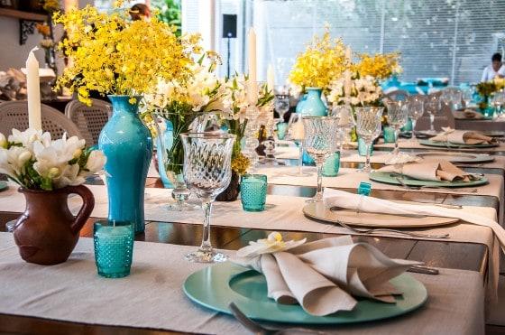 inspiração de Casamento Azul e Amarelo