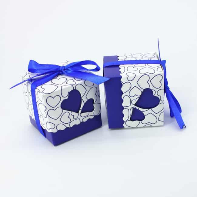 lembrancinha de casamento caixinha azul