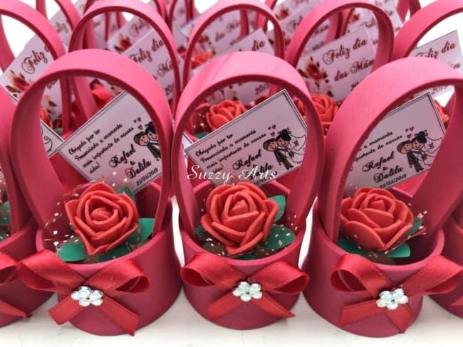 lembrancinha de casamento em EVA vasos