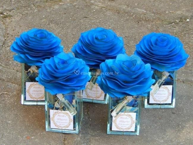 lembrancinha de casamento kit azul