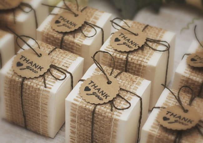 lembrancinha de casamento rustico caixinhas