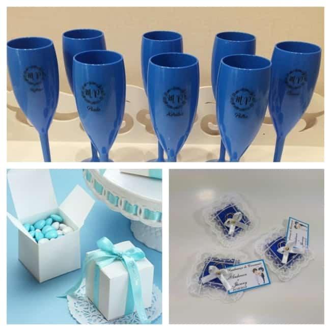lembrancinhas de casamento azul