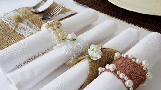 lindo Porta guardanapo para casamento rústico