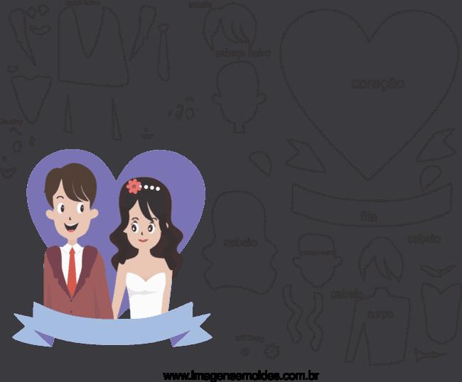 moldes casamento de noivos