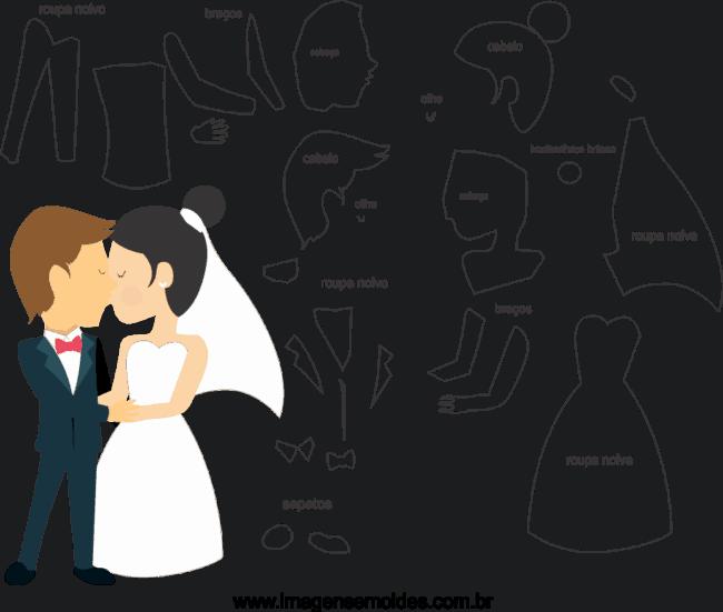 moldes de noivos para casamento