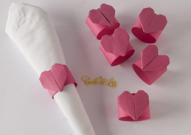 porta guardanapo de papel origami