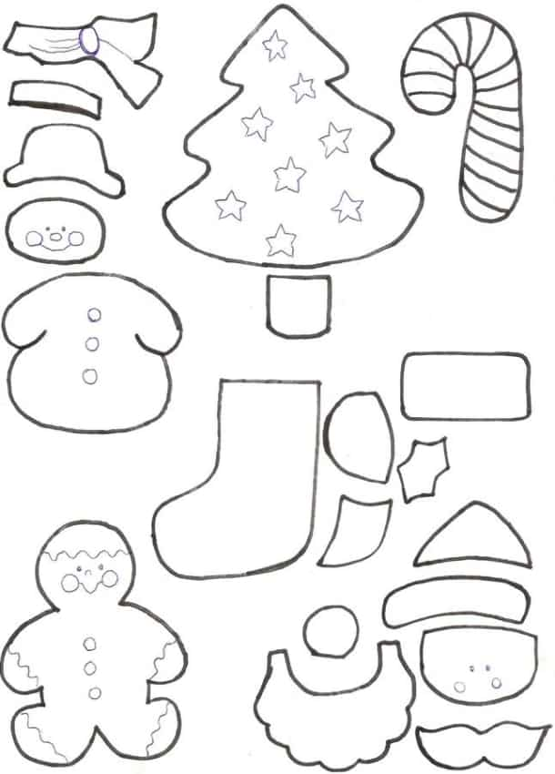 vários Moldes de lembrancinhas de Natal