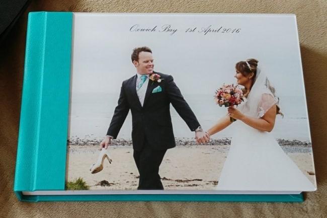Álbum de casamento azul e branco19
