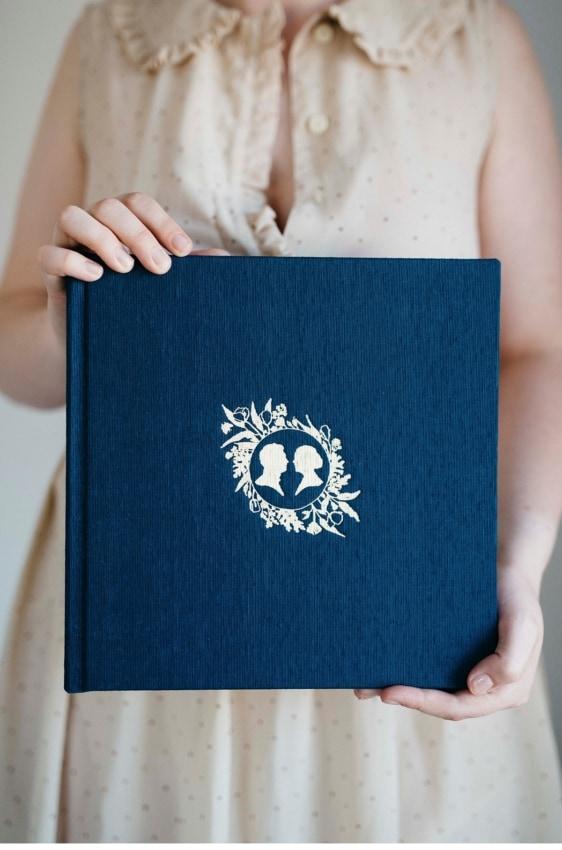 Álbum de casamento azul escuro36