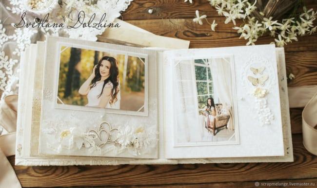 Álbum de casamento com aplique de borboletas21