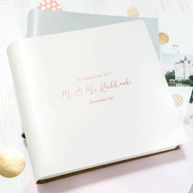 Álbum de casamento com capa branca4