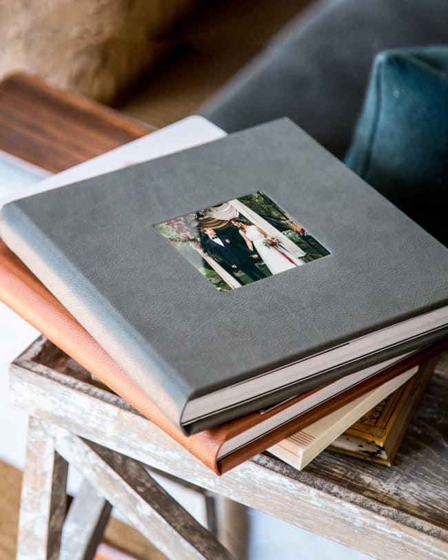 Álbum de casamento com capa de couro26