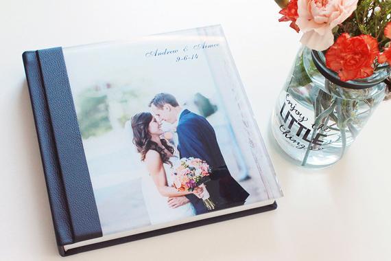 Álbum de casamento com foto na capa5