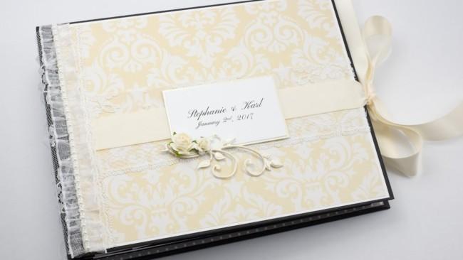 Álbum de casamento com renda33