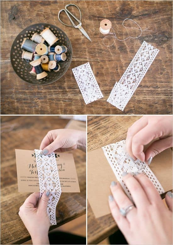 passo a passo convite de casamento de papel kraft