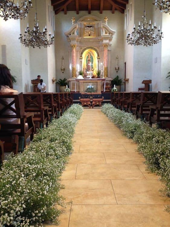 decoração de casamento para igreja