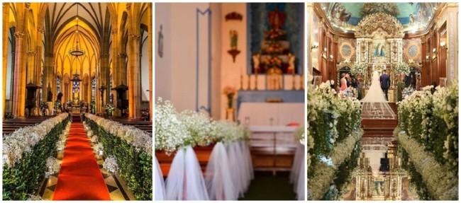 arranjos para casamento na igreja