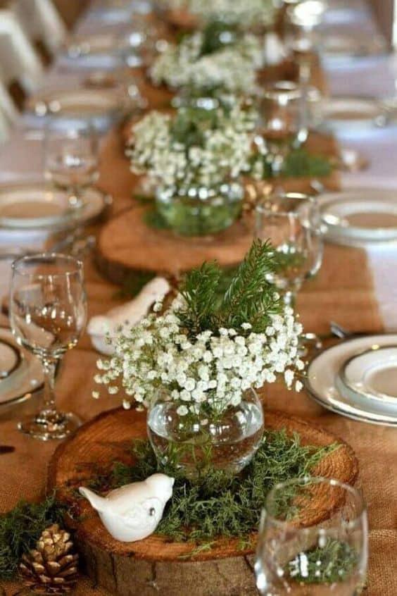 arranjos de mesas para casamento simples