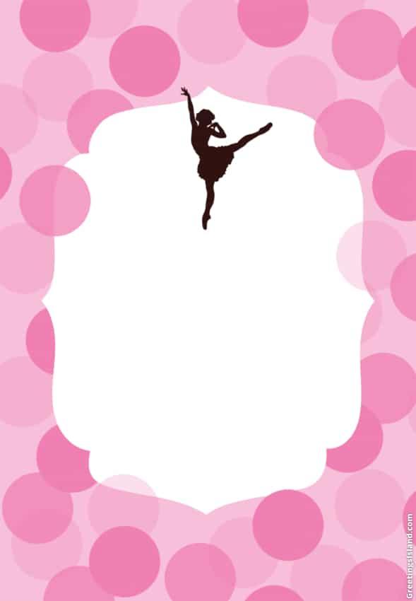 convite de bailarina para imprimir grátis
