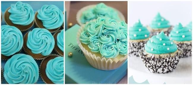 ideias para cupcake azul tiffany