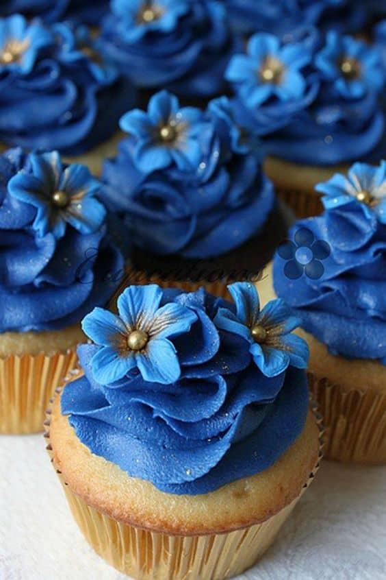 cupcake azul escuro