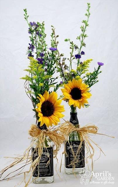 arranjos com flores do campo para casamento simples