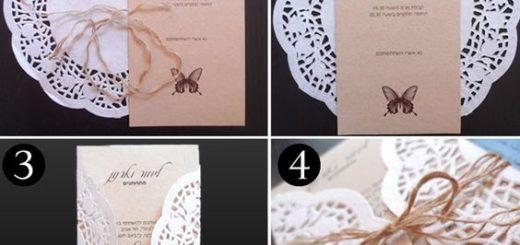 como fazer convite de casamento rendado
