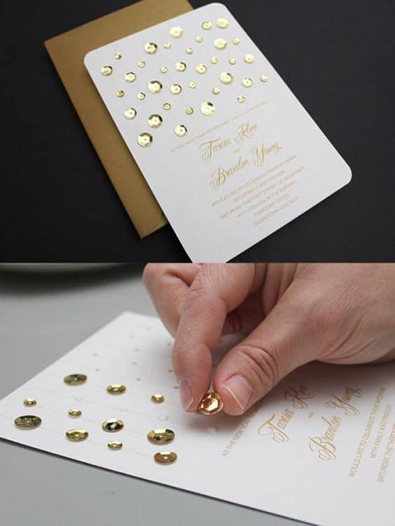 DIY convite de casamento simples