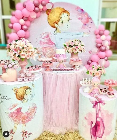 tema para chá de bebê rosa