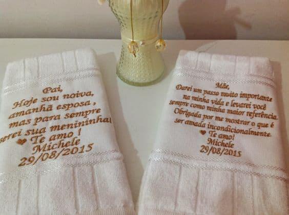 lembrancinhas para pais dos noivos