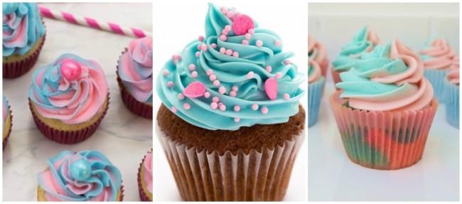 ideias para cupcake azul e rosa