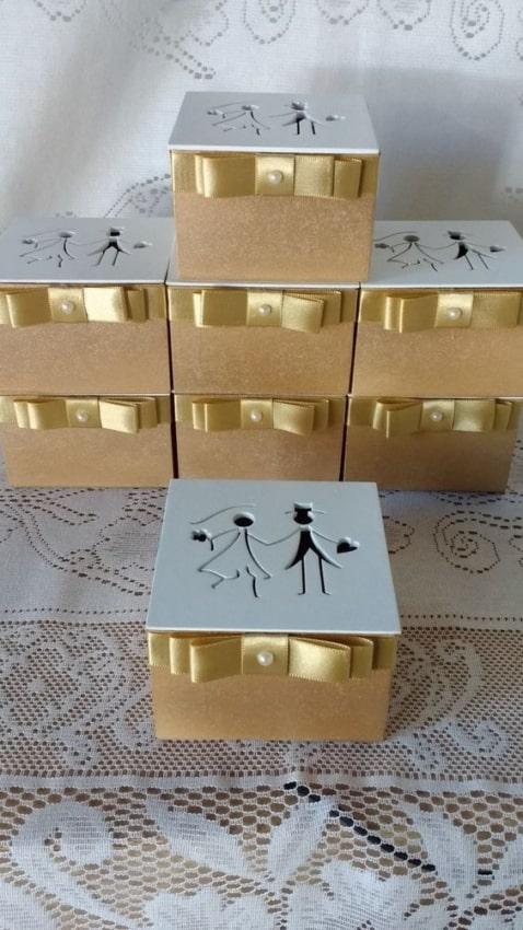 caixinha de MDF para casamento