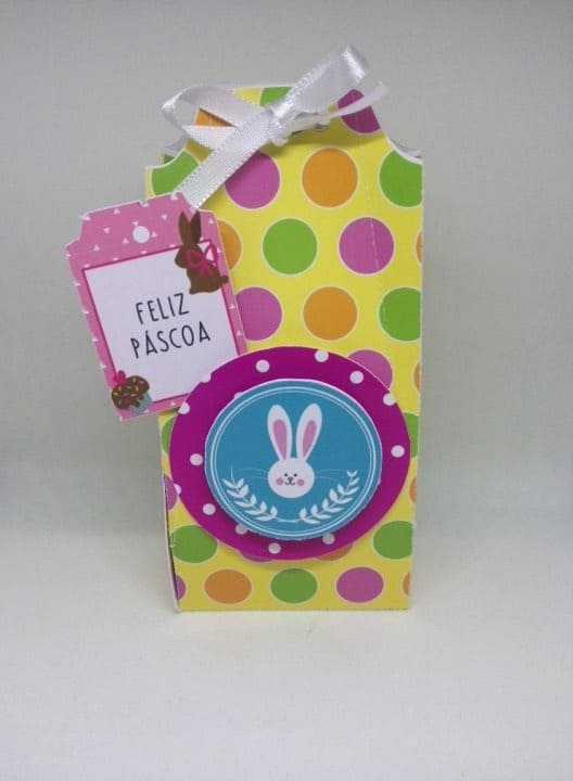 Caixa colorida para lembrancinha de Páscoa