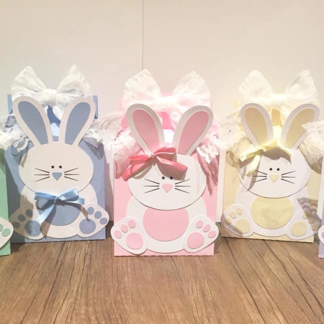 Caixa de coelho da Páscoa de papel