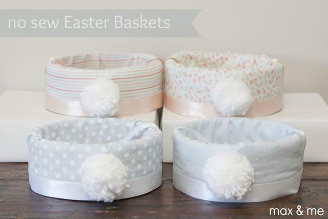 Caixinhas decoradas com tecido com rabinho de coelho