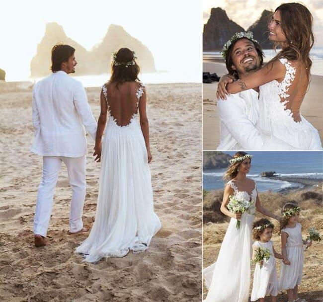 Casamento na praia durante o dia