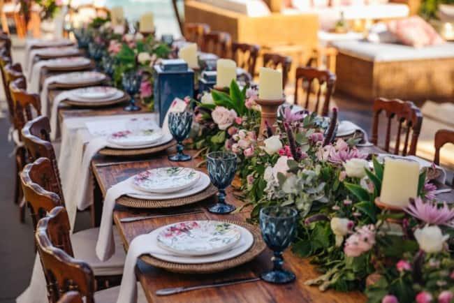 Centro de mesa para casamentos diurnos